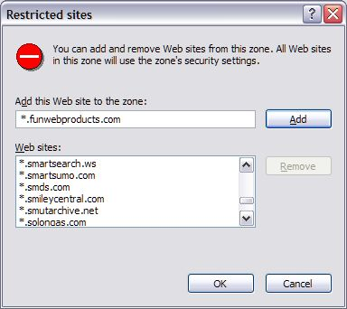 restricted sites