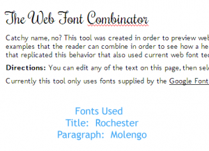 rochester web font