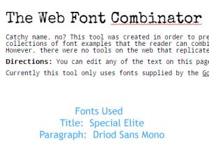 special elite web font